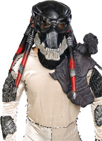 Adult Deluxe Black Latex Predator Mask - Alien Vs. Predator Kostüm Zubehör