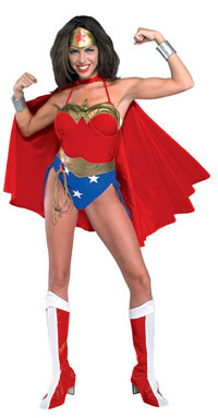 Adult Wonder Woman Kostüm - Adult Superheld Kostüme
