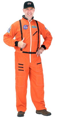 Adult Orange Astronaut Kostüm - Halloween-Kostüme