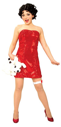 Sexy Adult Betty Boop Costume - Betty Boop Kostüme