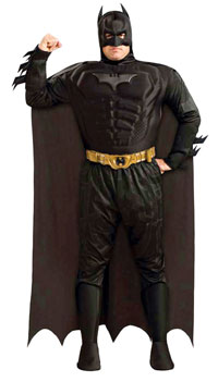 Deluxe Plus Size Batman Dark Knight Kostüm - Batman Kostüme