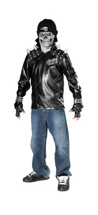 Dead City Choppers Metal Skull Biker Kostüm - Kinder-Halloween-Kostüme