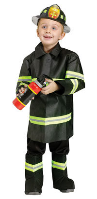Adult Tan-Feuerwehrmann-Kostüm mit Helm - Fire Fighter Kostüme ...
